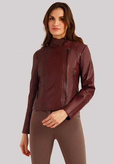 Куртка кожаная, Finn Flare, цвет: бордовый. Артикул: MP002XW1IQV3. Одежда / Верхняя одежда / Кожаные куртки