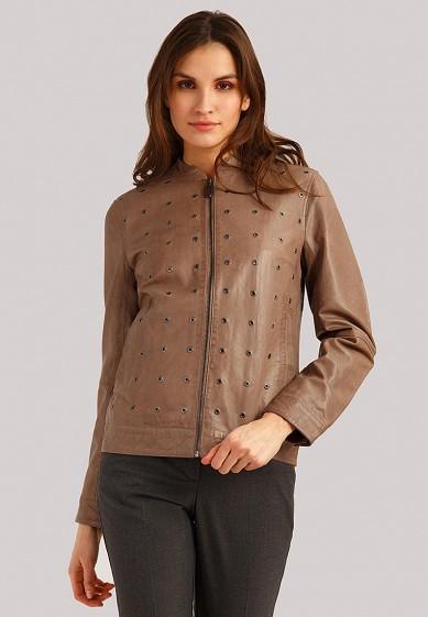 Куртка кожаная, Finn Flare, цвет: коричневый. Артикул: MP002XW1IQV4. Одежда / Верхняя одежда / Кожаные куртки