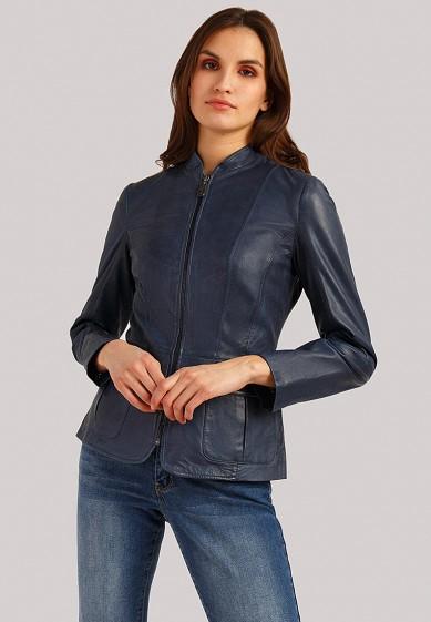 Куртка кожаная, Finn Flare, цвет: синий. Артикул: MP002XW1IQV5. Одежда / Верхняя одежда / Кожаные куртки