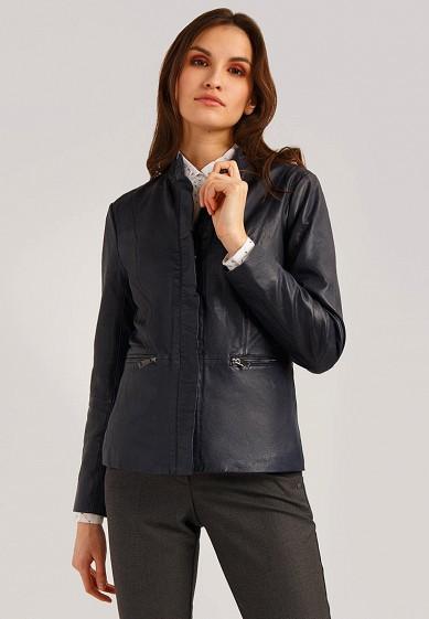 Куртка кожаная, Finn Flare, цвет: синий. Артикул: MP002XW1IQV7. Одежда / Верхняя одежда / Кожаные куртки