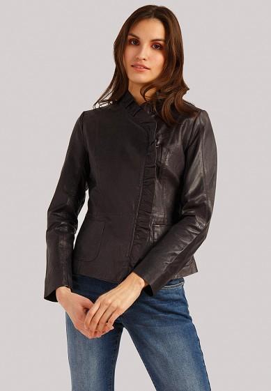 Куртка кожаная, Finn Flare, цвет: серый. Артикул: MP002XW1IQV8. Одежда / Верхняя одежда / Кожаные куртки
