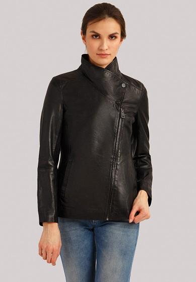 Куртка кожаная, Finn Flare, цвет: черный. Артикул: MP002XW1IQVC. Одежда / Верхняя одежда / Кожаные куртки