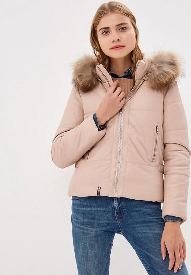 Куртка кожаная, Oakwood, цвет: розовый. Артикул: OA002EWBSVD3. Одежда / Верхняя одежда / Кожаные куртки