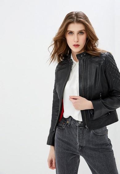 Куртка кожаная, Oakwood, цвет: черный. Артикул: OA002EWDVTO0. Одежда / Верхняя одежда / Кожаные куртки