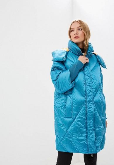 Пуховик, Odri, цвет: голубой. Артикул: OD001EWCYJA2. Одежда / Верхняя одежда / Зимние куртки