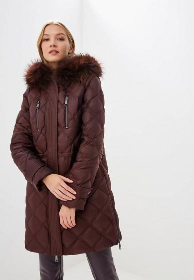 Пуховик, Odri, цвет: бордовый. Артикул: OD001EWCYJA8. Одежда / Верхняя одежда / Зимние куртки