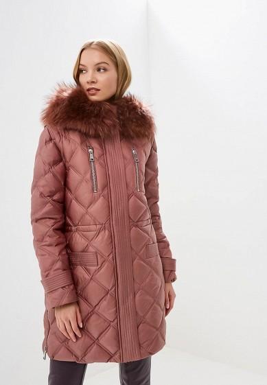 Пуховик, Odri, цвет: розовый. Артикул: OD001EWCYJB0. Одежда / Верхняя одежда / Зимние куртки