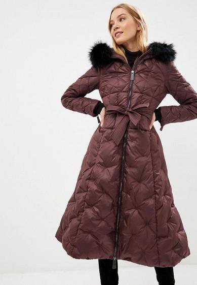 Пуховик, Odri, цвет: бордовый. Артикул: OD001EWCYJB2. Одежда / Верхняя одежда / Зимние куртки