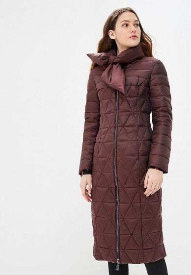 Пуховик, Odri, цвет: бордовый. Артикул: OD001EWCYJB5. Одежда / Верхняя одежда / Зимние куртки
