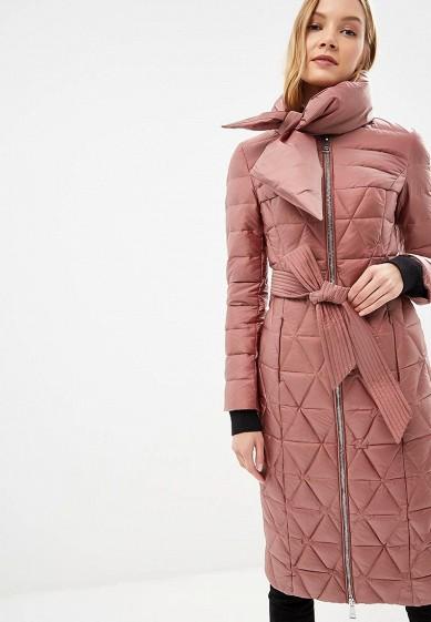 Пуховик, Odri, цвет: розовый. Артикул: OD001EWCYJB6. Одежда / Верхняя одежда / Зимние куртки
