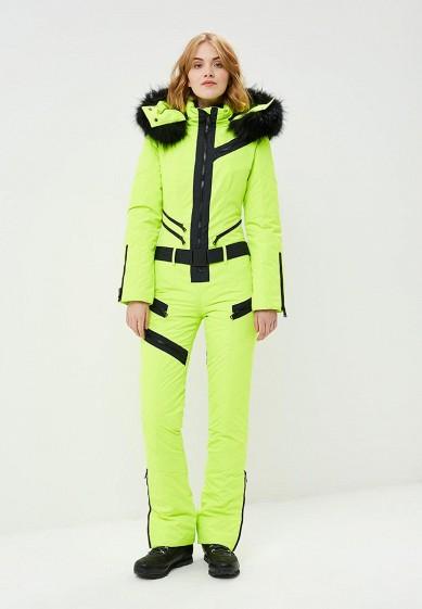 Комбинезон горнолыжный, Odri, цвет: зеленый. Артикул: OD001EWCYJC3. Одежда / Верхняя одежда / Зимние куртки