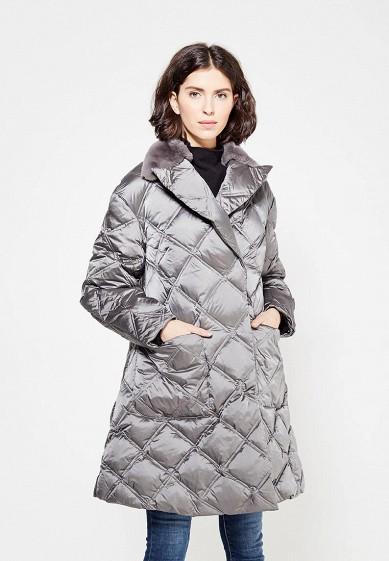 Пуховик, Odri, цвет: серый. Артикул: OD001EWXGF50. Одежда / Верхняя одежда / Зимние куртки