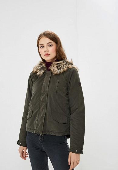 Куртка утепленная, Only, цвет: хаки. Артикул: ON380EWCAXC9. Одежда / Верхняя одежда / Парки