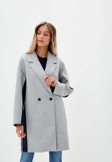 Пальто, O'stin, цвет: серый. Артикул: OS004EWGGSW5. Одежда / Верхняя одежда / Пальто