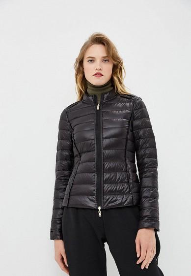 Пуховик, Patrizia Pepe, цвет: черный. Артикул: PA748EWBXSM2. Premium / Одежда / Верхняя одежда