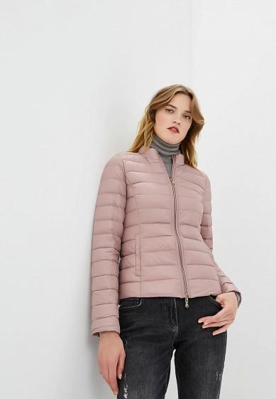 Пуховик, Patrizia Pepe, цвет: розовый. Артикул: PA748EWBXSM3. Premium / Одежда / Верхняя одежда
