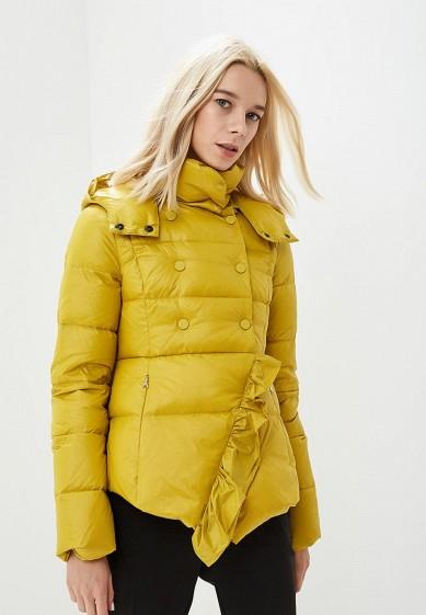 Пуховик, Patrizia Pepe, цвет: желтый. Артикул: PA748EWCEHF4. Premium / Одежда / Верхняя одежда