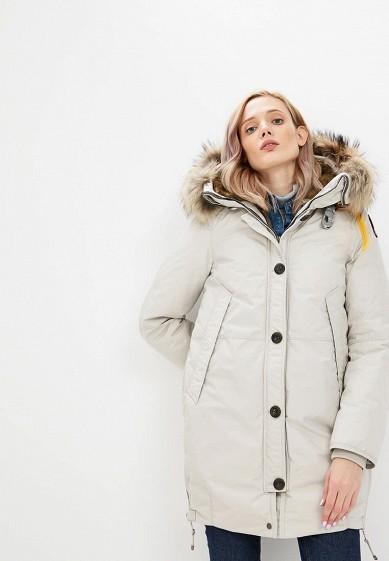 Пуховик, Parajumpers, цвет: серый. Артикул: PA997EWCCWG6. Premium / Одежда / Верхняя одежда