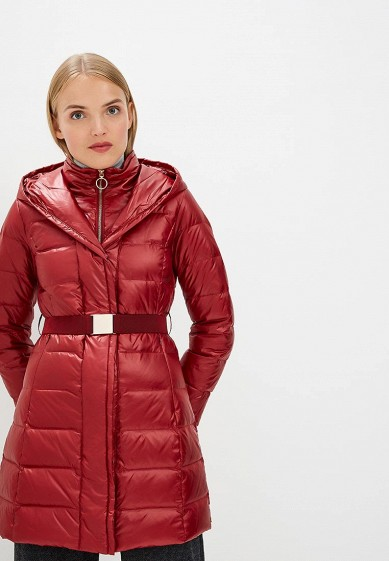 Пуховик, Pennyblack, цвет: бордовый. Артикул: PE003EWBXRG3. Premium / Одежда / Верхняя одежда