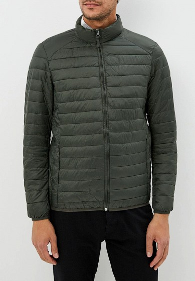 Куртка утепленная, Piazza Italia, цвет: хаки. Артикул: PI022EMCUXC6. Одежда / Верхняя одежда