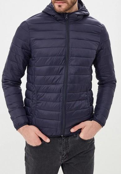 Куртка утепленная, Piazza Italia, цвет: синий. Артикул: PI022EMCYTM0. Одежда / Верхняя одежда