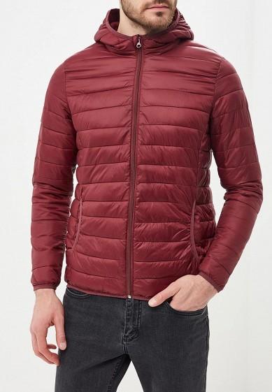 Куртка утепленная, Piazza Italia, цвет: бордовый. Артикул: PI022EMCYTM1. Одежда / Верхняя одежда