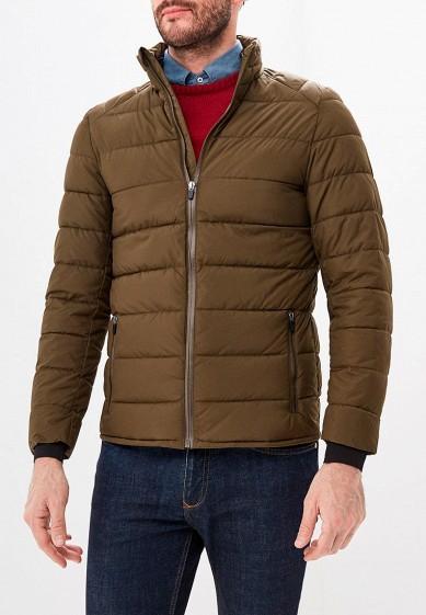 Куртка утепленная, Piazza Italia, цвет: хаки. Артикул: PI022EMDICW5. Одежда / Верхняя одежда