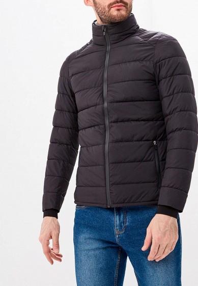 Куртка утепленная, Piazza Italia, цвет: черный. Артикул: PI022EMDICW6. Одежда / Верхняя одежда