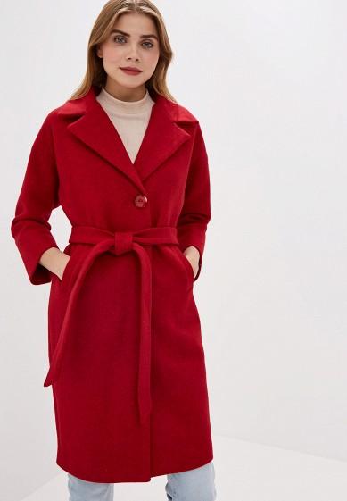 Пальто, Pink Frost, цвет: красный. Артикул: PI023EWGCSE3. Одежда / Верхняя одежда / Пальто