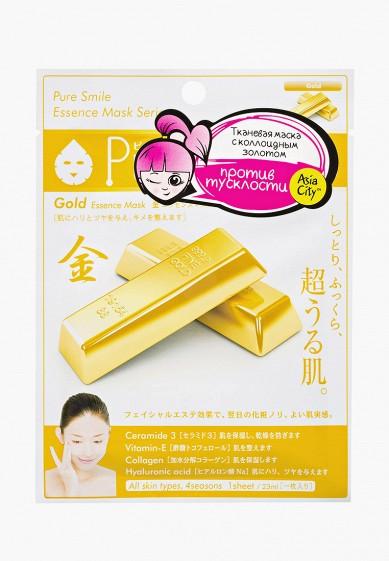 Маска для лица Pure Smile антиоксидантная с коллоидным золотом 1 шт за 72 ₽. в интернет-магазине Lamoda.ru