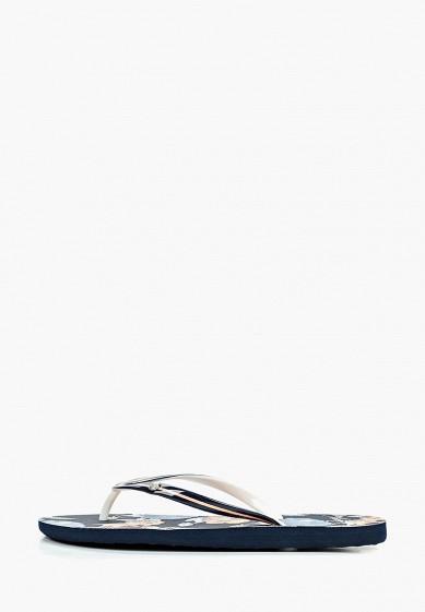 Сланцы, Roxy, цвет: синий. Артикул: RO165AWEGVO8. Обувь