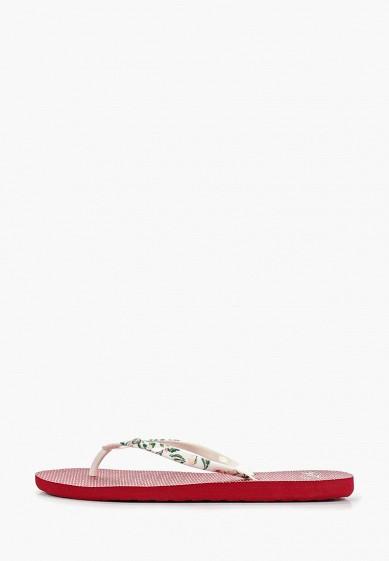 Сланцы, Roxy, цвет: белый. Артикул: RO165AWEGVO9. Обувь