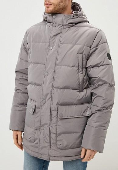 Пуховик, Sela, цвет: серый. Артикул: SE001EMBXAO8. Одежда / Верхняя одежда / Пуховики и зимние куртки