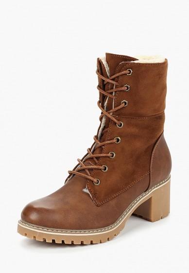 Ботильоны, Super Mode, цвет: коричневый. Артикул: SU013AWDASJ6. Обувь / Ботильоны