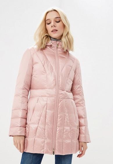 Пуховик, Trussardi Jeans, цвет: розовый. Артикул: TR016EWBUVQ6. Premium / Одежда / Верхняя одежда