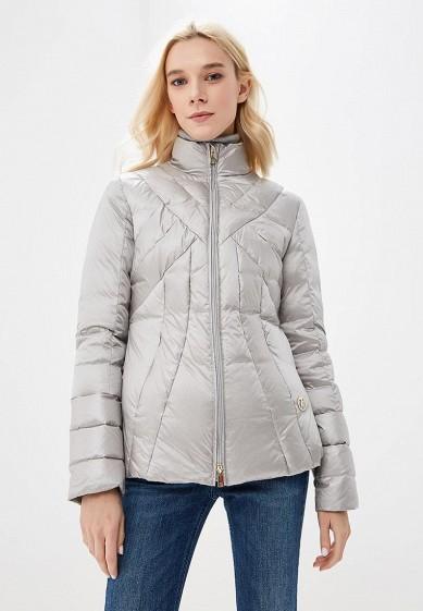 Пуховик, Trussardi Jeans, цвет: серый. Артикул: TR016EWBUVR1. Premium / Одежда / Верхняя одежда