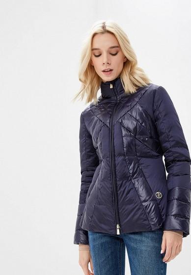 Пуховик, Trussardi Jeans, цвет: синий. Артикул: TR016EWBUVR2. Premium / Одежда / Верхняя одежда
