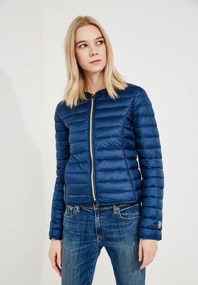 Пуховик, Trussardi Jeans, цвет: синий. Артикул: TR016EWZXK88. Premium / Одежда / Верхняя одежда