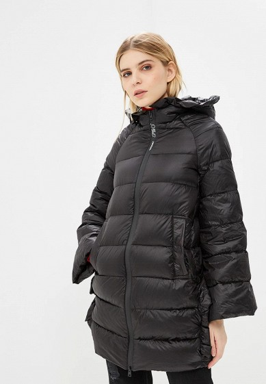 Пуховик, Twinset Milano, цвет: черный. Артикул: TW008EWBWOS1. Premium / Одежда / Верхняя одежда