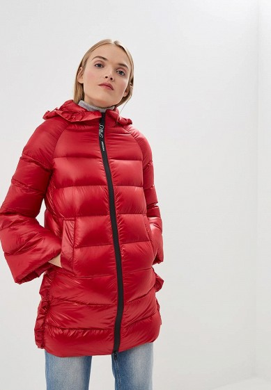 Пуховик, Twinset Milano, цвет: красный. Артикул: TW008EWBWOS2. Premium / Одежда / Верхняя одежда