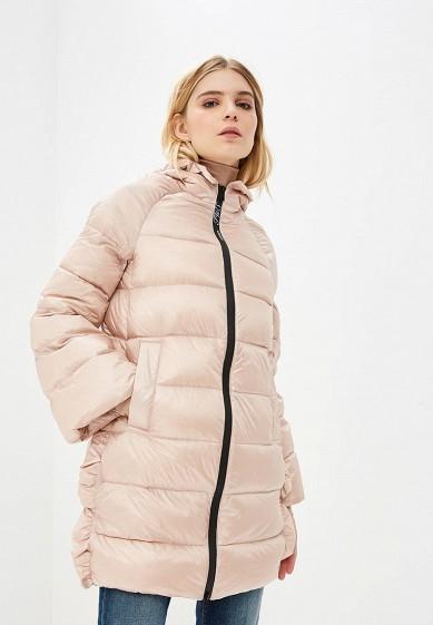 Пуховик, Twinset Milano, цвет: розовый. Артикул: TW008EWBWOS3. Premium / Одежда / Верхняя одежда