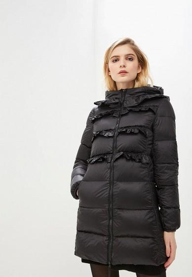 Пуховик, Twinset Milano, цвет: черный. Артикул: TW008EWBWOS6. Premium / Одежда / Верхняя одежда