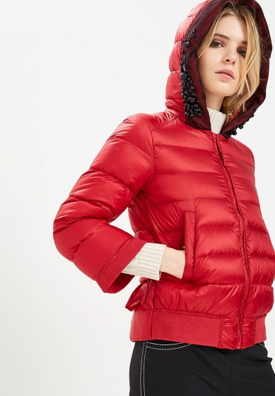 Пуховик, Twinset Milano, цвет: бордовый. Артикул: TW008EWBWOV4. Premium / Одежда / Верхняя одежда