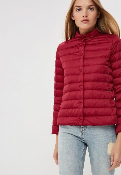 Пуховик, Weekend Max Mara, цвет: бордовый. Артикул: WE017EWBSZI9. Premium / Одежда / Верхняя одежда