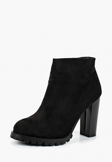 Ботильоны, Zenden Woman, цвет: черный. Артикул: ZE009AWCHSH7. Обувь / Ботильоны