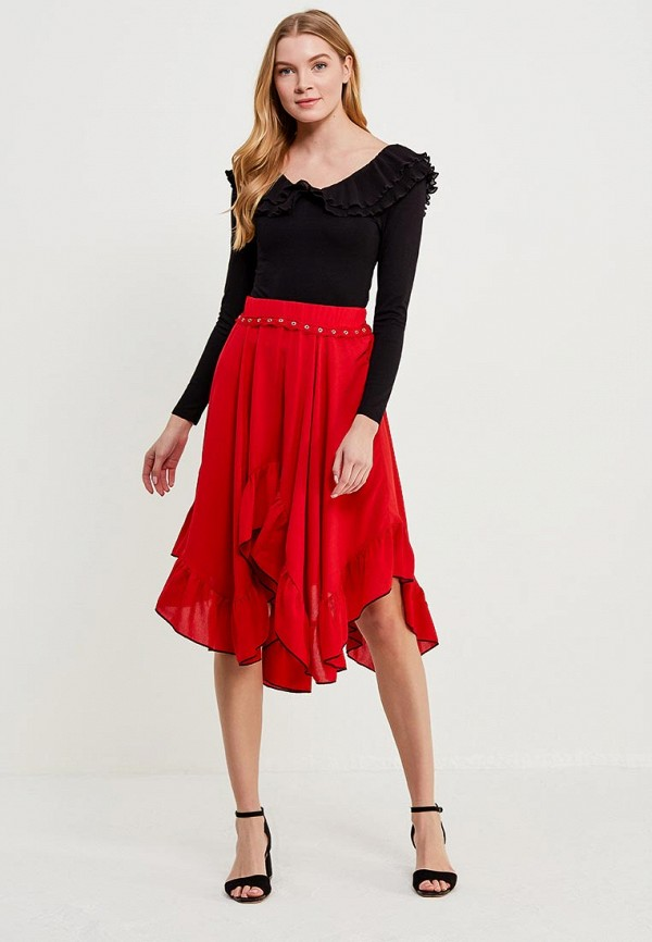 Юбка LOST INK PRAIRIE TRIM DETAIL MIDI SKIRT