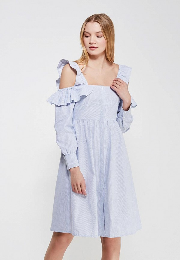 Платье Lost Ink STRIPE COLD SHOULDER DRESS