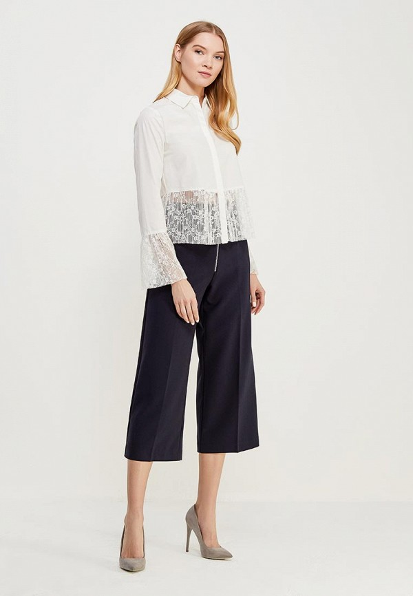 Блуза LOST INK PLEATED LACE TRIM SHIRT
