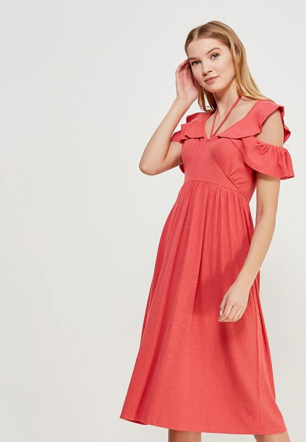 Платье LOST INK CUT OUT SHOULDER FRILL MIDI DRESS