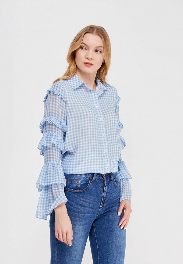 Блуза LOST INK MULTI FRILL SLEEVE GINGHAM SHIRT
